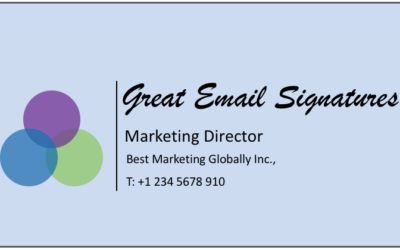 Great email signatures
